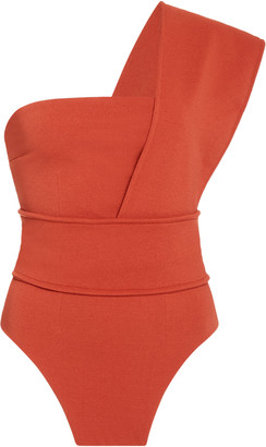 Haight One-Shoulder Stretch-Crepe Swimsuit