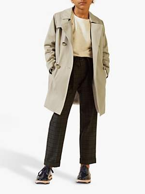 Jigsaw Girls' Faux Fur Lined Trench Coat, Camel