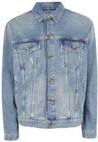 Topman Oversized Blue Denim Jacket