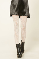 Forever 21 FOREVER 21+ Semi-Sheer Floral Tights