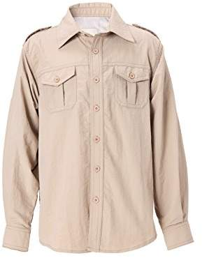 Trailside Supply Co. Big Boys' Quick-Dry Nylon Breathable Convertible Long Sleeve Fishing Shirt