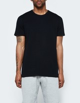 Reigning Champ SS Crewneck Tee - Mesh Flatback in Black