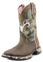 Durango Lady Rebel Women Round Toe Leather Green Western Boot.