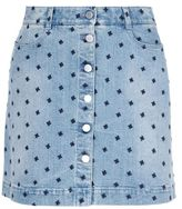 Stella McCartney star denim skirt