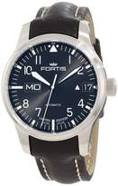 Fortis F-43 Flieger 700.10.81 L.01 Black Leather Strap Automatic 43mm Mens Watch