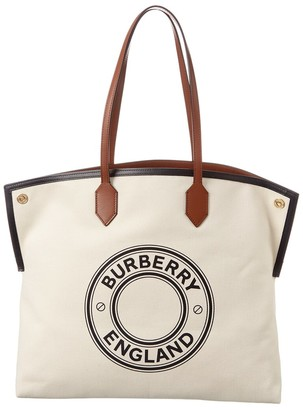 Burberry Large Logo Graphic Canvas Tote