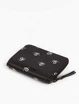 Lanvin Black Spider Motif Wallet