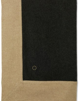 Oyuna Etra Heavyweight Timeless Luxury Cashmere Bedspread Charcoal / Melange Taupe
