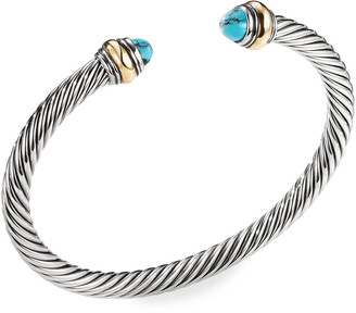 David Yurman 5mm Cable Classics Bracelet with Semiprecious Stone & 18K Gold