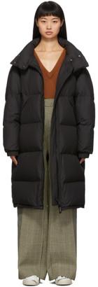 Yves Salomon Army Black Down Technical Coat