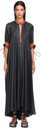 Sportmax Cinzato Chiffon Long Dress