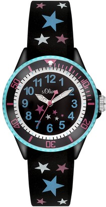 S'Oliver Girls' Analogue Quartz Watch with Silicone Strap SO-3178-PQ