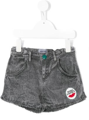 Bobo Choses Logo Patch Denim Shorts