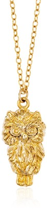"Jenny and Jimbob ""Owls Rock"" Plated Necklace 17 Inch Chain"