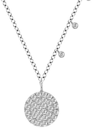 Meira T 14K White Gold Diamond Disc Pendant Necklace