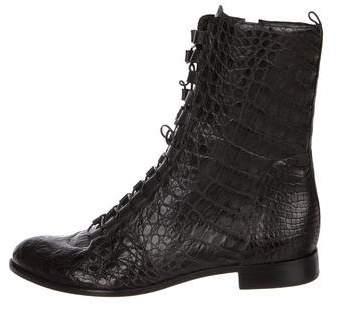 Alexandre Birman Alligator Ankle Boots