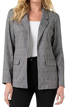 Liverpool Los Angeles Liverpool Plaid Boyfriend Blazer