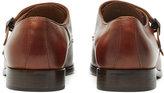 Reiss Reiss Finn - Double Monk Strap Shoes In Brown
