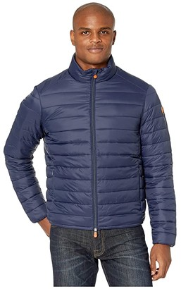 Save The Duck Giga 9 Puffer Jacket with Faux Sherpa Lining (Navy Blue) Men's Coat