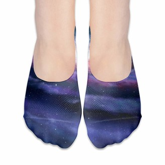 Cool Show Socks For Women Spiral Galaxy Illustration Of Milky Way Low Cut Sock Liners Invisible Socks
