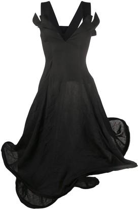 Yohji Yamamoto Structured Sleeveless Dress