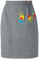 Olympia Le-Tan 'Paola Gabbiano' skirt - women - Acrylic/Polyester/Spandex/Elastane/glass - 36