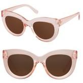Women's Perverse Repost Cat Eye Sunglasses - Pink/ Brown