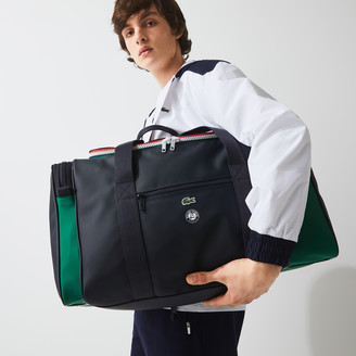 Lacoste Men's Roland Garros Two-Tone Nylon Zippered Sports Bag