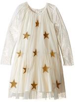 Stella McCartney Misty Star Patched Tulle Dress Girl's Dress