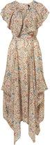 Topshop Floral Print Cape Maxi Dress