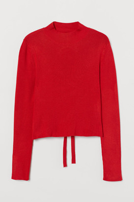 H&M Open-backed Top - Red