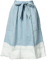 Ulla Johnson bleached effed A-line skirt - women - Cotton - 2