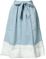 Ulla Johnson bleached effed A-line skirt - women - Cotton - 2