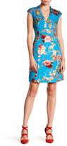 Betsey Johnson Cap Sleeve Floral Dress