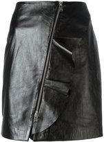 IRO straight leather skirt - women - Lamb Skin/Polyester - 38