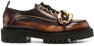 No.21 Chunky Chain Detail Oxford Shoes