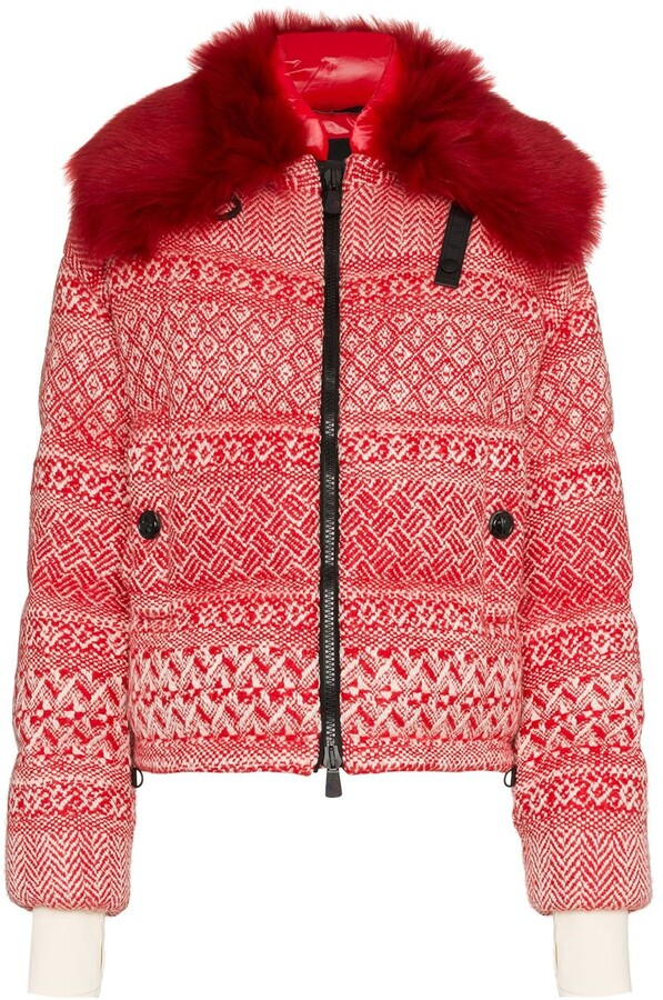 292db0104 Siusi printed fur trimmed feather down jacket