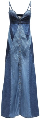 Diesel De-Aryna Lyocell Denim Maxi Dress