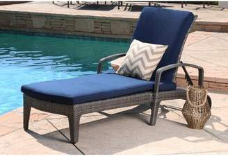 Bungalow Rose Ostrowski Outdoor Adjustable Reclining Chaise Lounge with Cushions