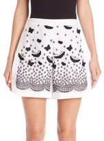 Giambattista Valli Butterfly Appliqué & Lace Shorts