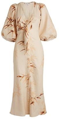 Shona Joy Sundance Tie-Front Midi Dress