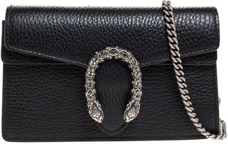 Gucci Black Leather Mini Dionysus Crossbody Bag
