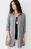 J. Jill Yarn-Dyed Linen Button-Front Tunic