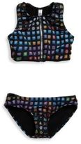 Zara Terez Girl's Two-Piece Emoji-Print Bikini