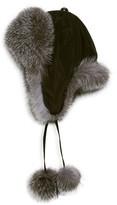 Surell Dyed Fox Fur Trapper Hat