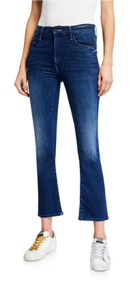 Mother The Insider Ankle Straight-Leg Jeans