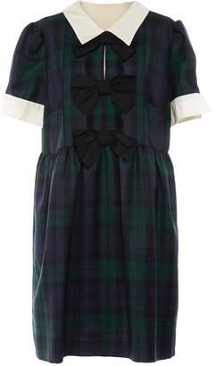 Miu Miu Green Wool Dress for Women