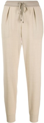 Lorena Antoniazzi Drawstring Fitted Trousers