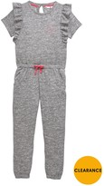 Very Girls Ruffle Detail Jersey Jumpsuit