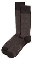 Cole Haan Pique Textured Dress Socks